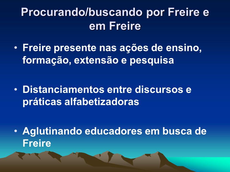 Procurando/buscando por Freire e em Freire