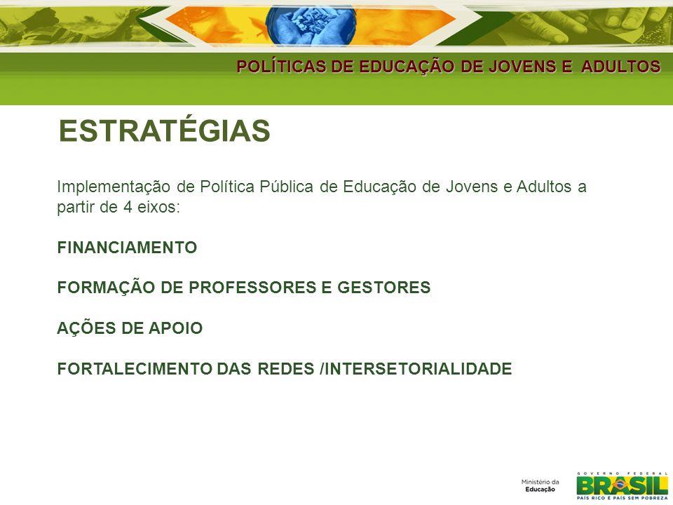 ESTRATÉGIAS POLÍTICAS DE EDUCAÇÃO DE JOVENS E ADULTOS