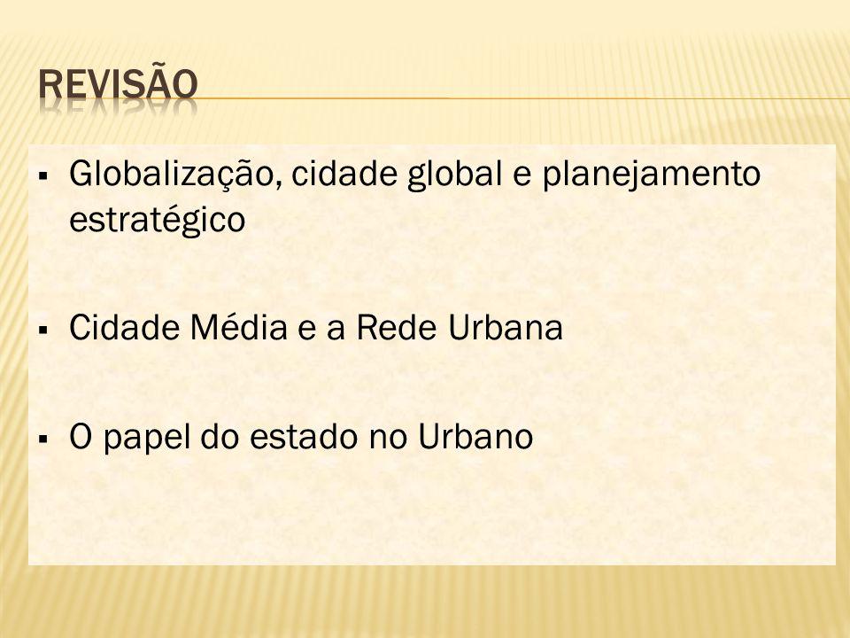 Revisão Globalização, cidade global e planejamento estratégico