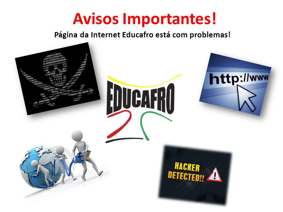 Página da Internet Educafro está com problemas!