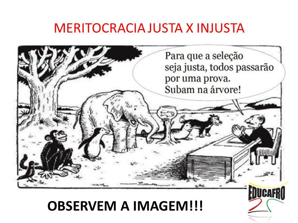 MERITOCRACIA JUSTA X INJUSTA