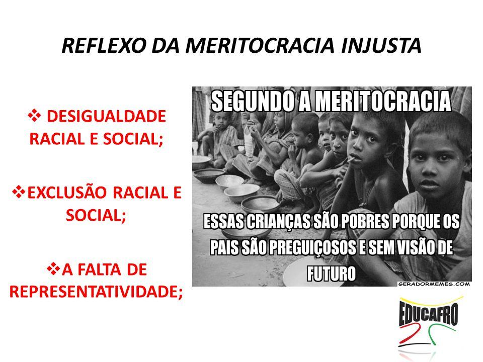 REFLEXO DA MERITOCRACIA INJUSTA