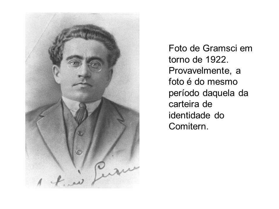 Foto de Gramsci em torno de 1922