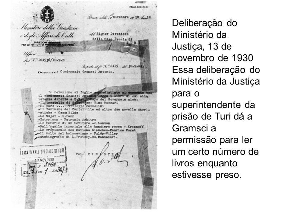 Deliberação do Ministério da Justiça, 13 de novembro de 1930