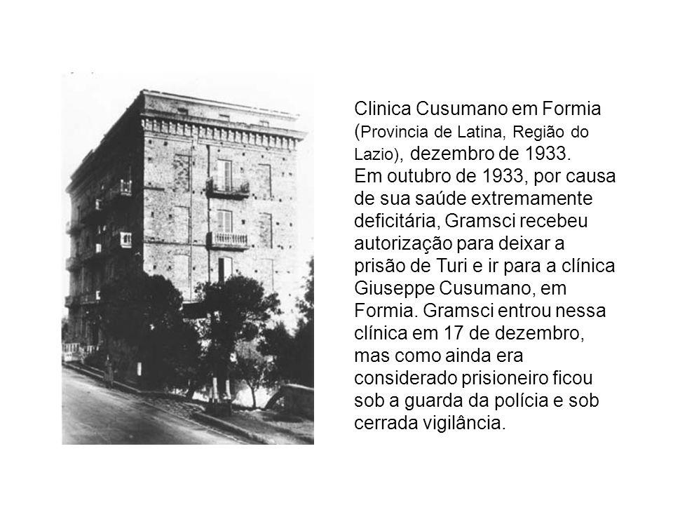 Clinica Cusumano em Formia (Provincia de Latina, Região do Lazio), dezembro de 1933.