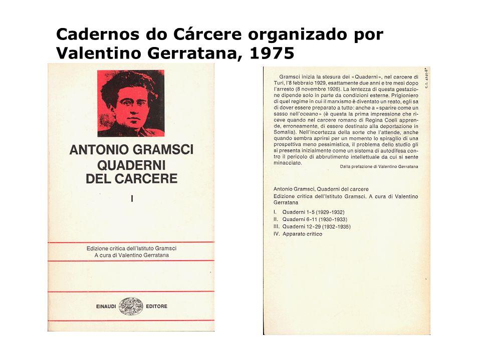 Cadernos do Cárcere organizado por Valentino Gerratana, 1975