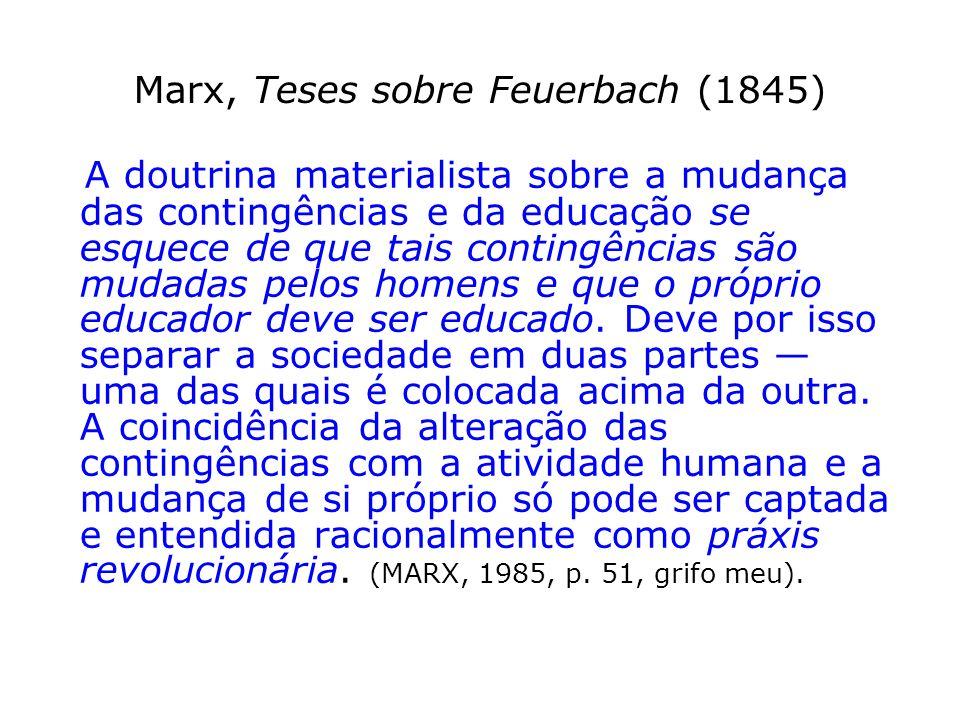 Marx, Teses sobre Feuerbach (1845)