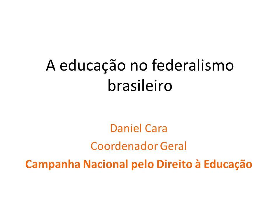 A educação no federalismo brasileiro