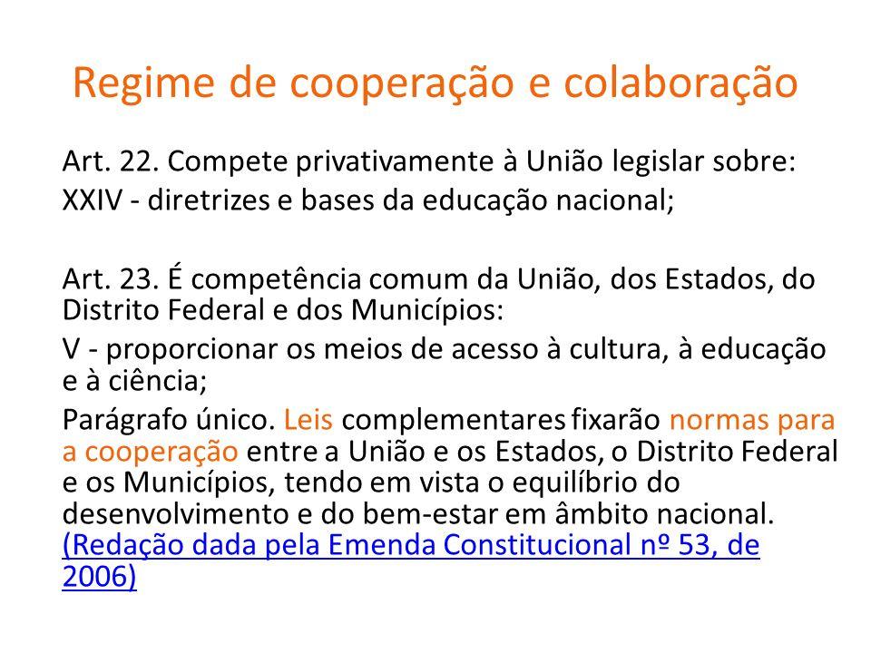 Regime de cooperação e colaboração
