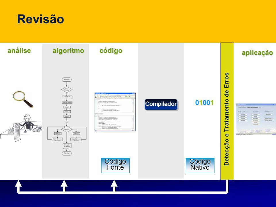 Revisão análise algoritmo código aplicação 01001 Código Fonte Código
