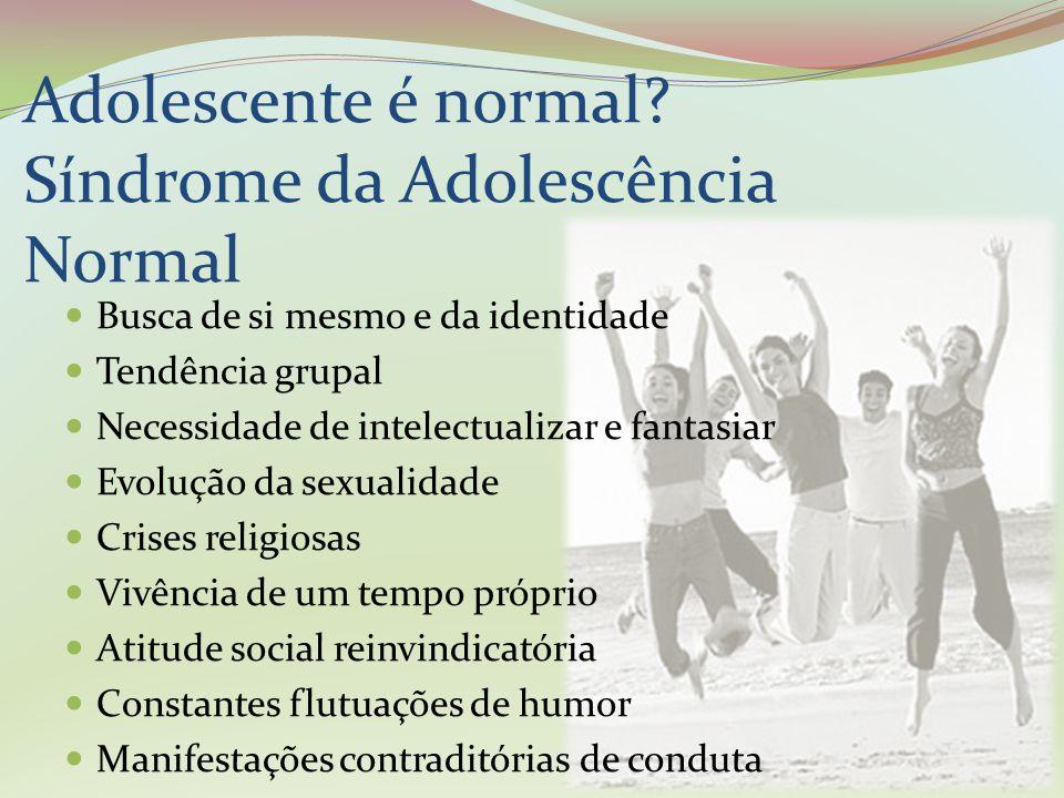 Adolescente é normal Síndrome da Adolescência Normal