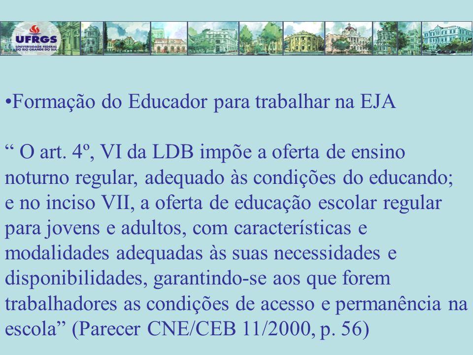Formação do Educador para trabalhar na EJA