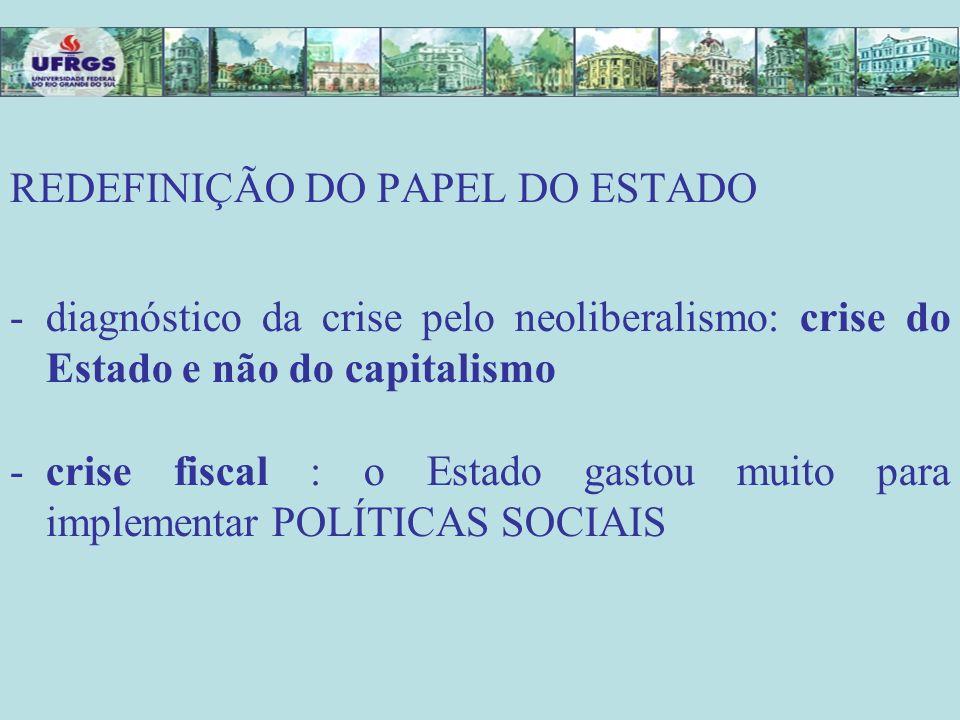 REDEFINIÇÃO DO PAPEL DO ESTADO