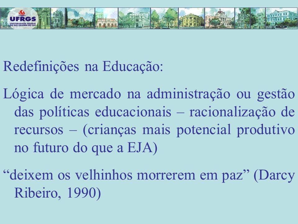 Redefinições na Educação: