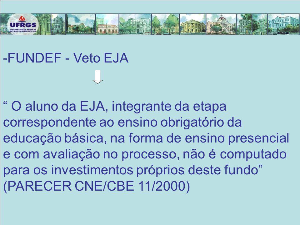 FUNDEF - Veto EJA