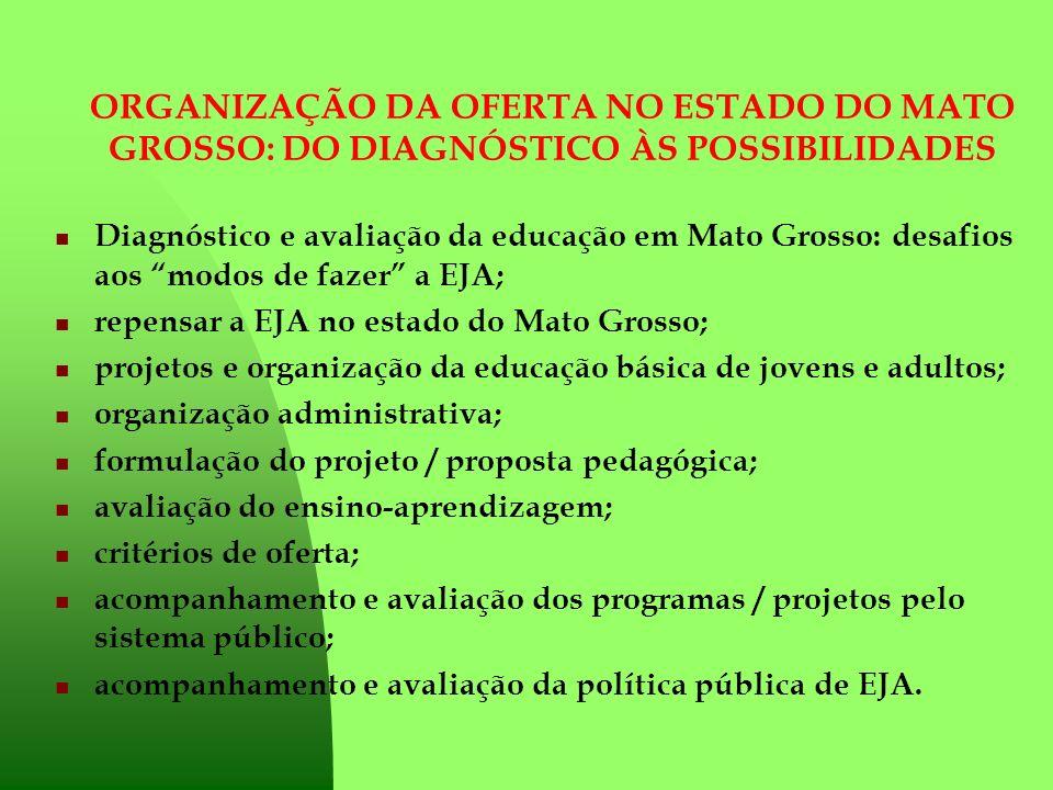 ORGANIZAÇÃO DA OFERTA NO ESTADO DO MATO GROSSO: DO DIAGNÓSTICO ÀS POSSIBILIDADES