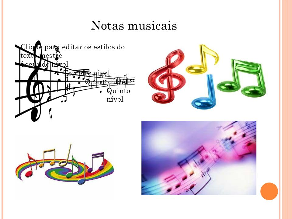 Notas musicais Clique para editar os estilos do texto mestre