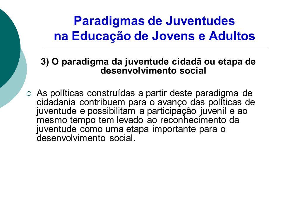 Paradigmas de Juventudes na Educação de Jovens e Adultos