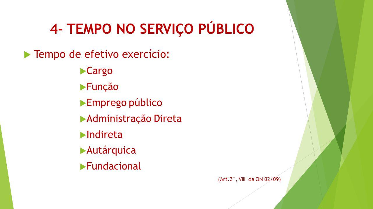 4- Tempo no serviço público