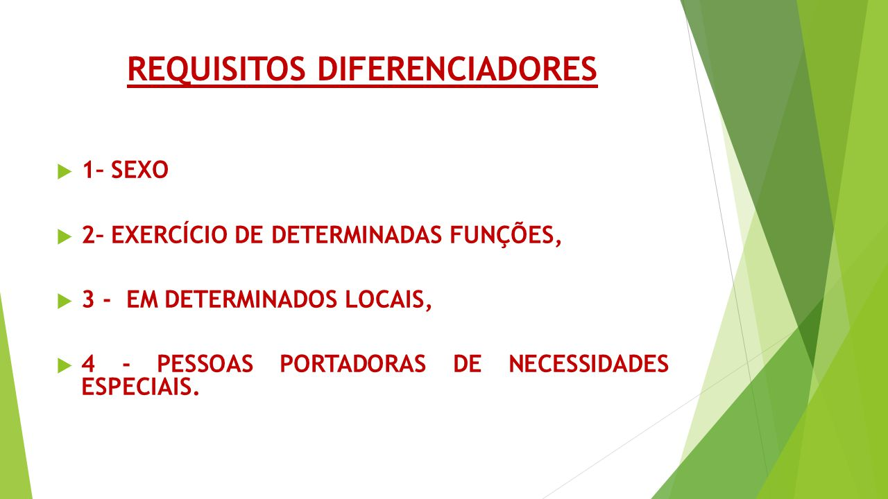requisitos diferenciadores