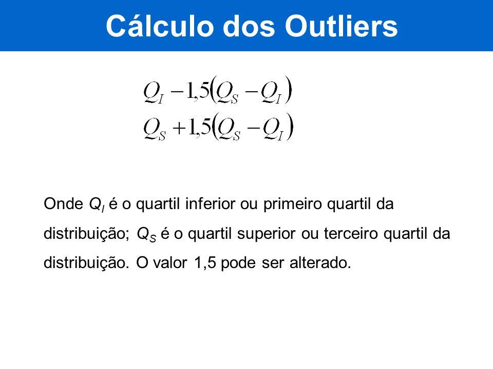 Cálculo dos Outliers