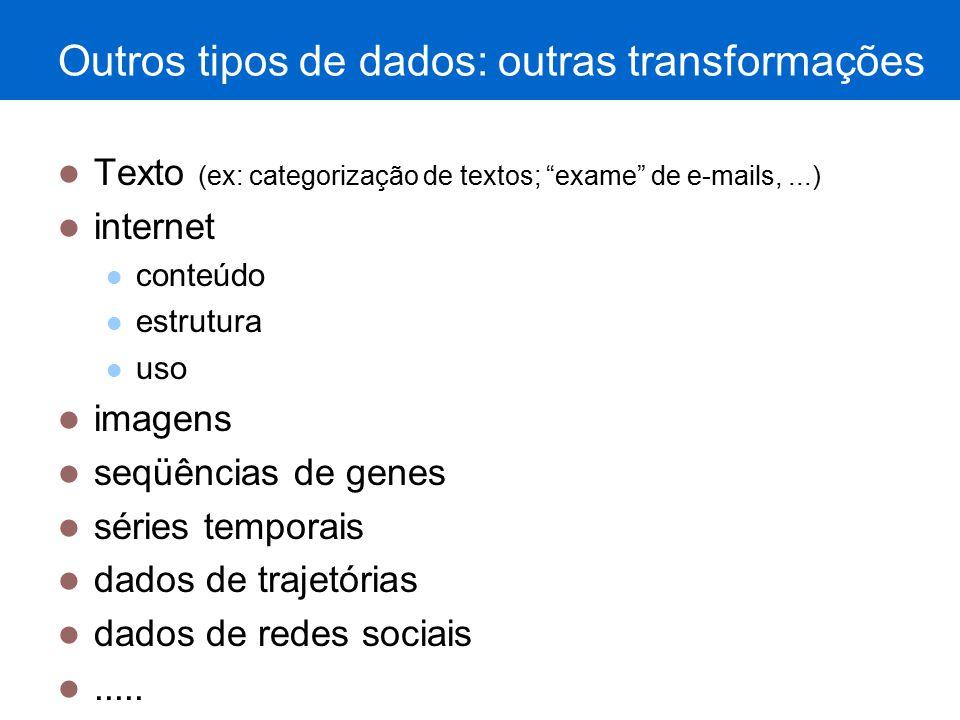 Outros tipos de dados: outras transformações