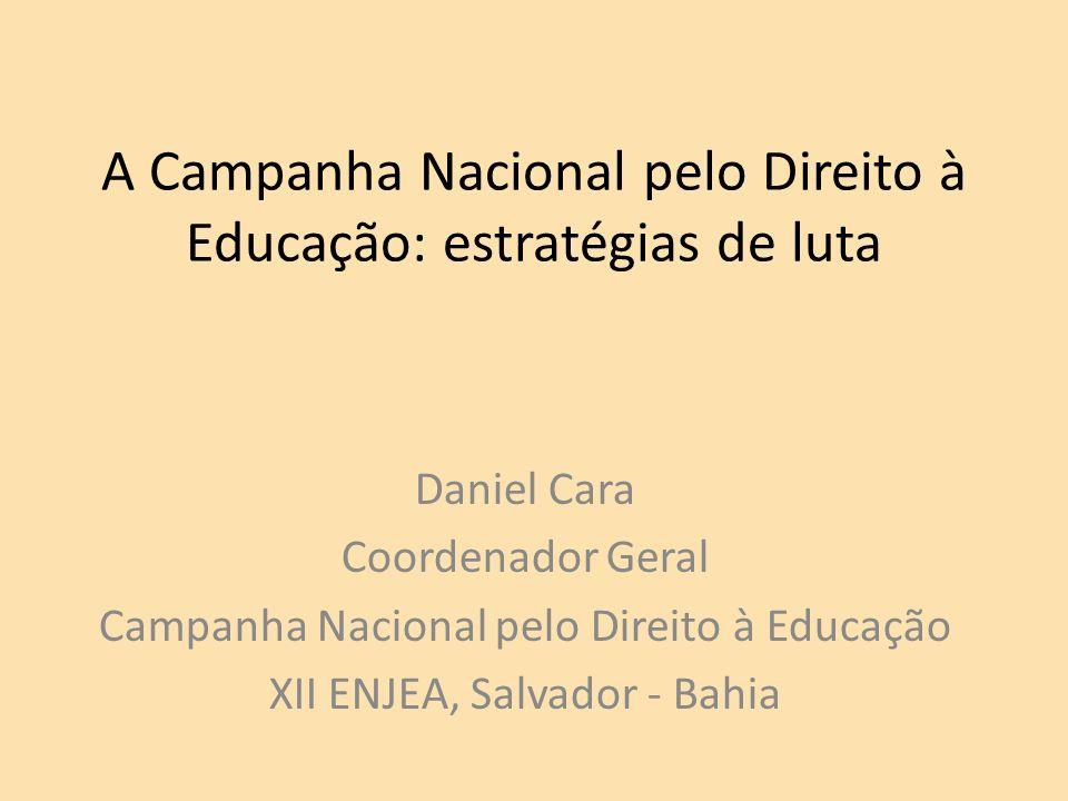 A Campanha Nacional pelo Direito à Educação: estratégias de luta