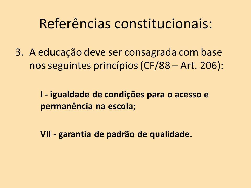 Referências constitucionais: