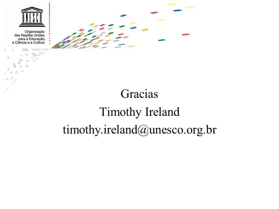 Gracias Timothy Ireland timothy.ireland@unesco.org.br