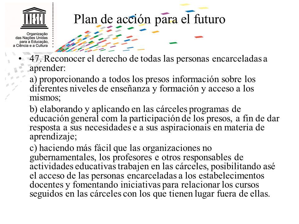 Plan de acción para el futuro