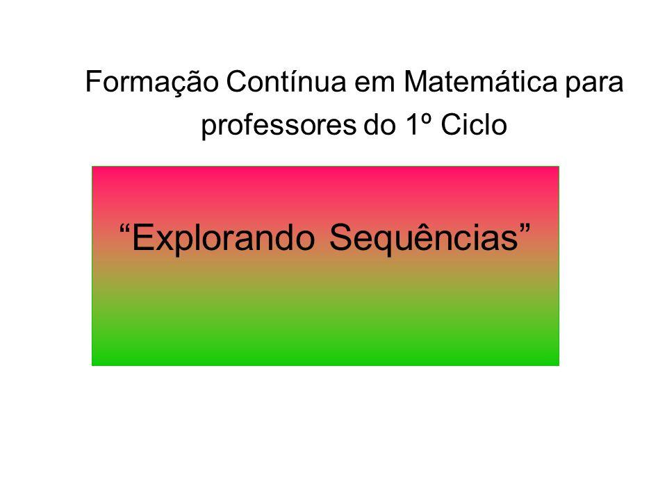Formação Contínua em Matemática para professores do 1º Ciclo
