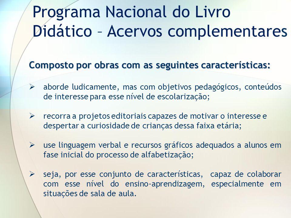 Programa Nacional do Livro Didático – Acervos complementares