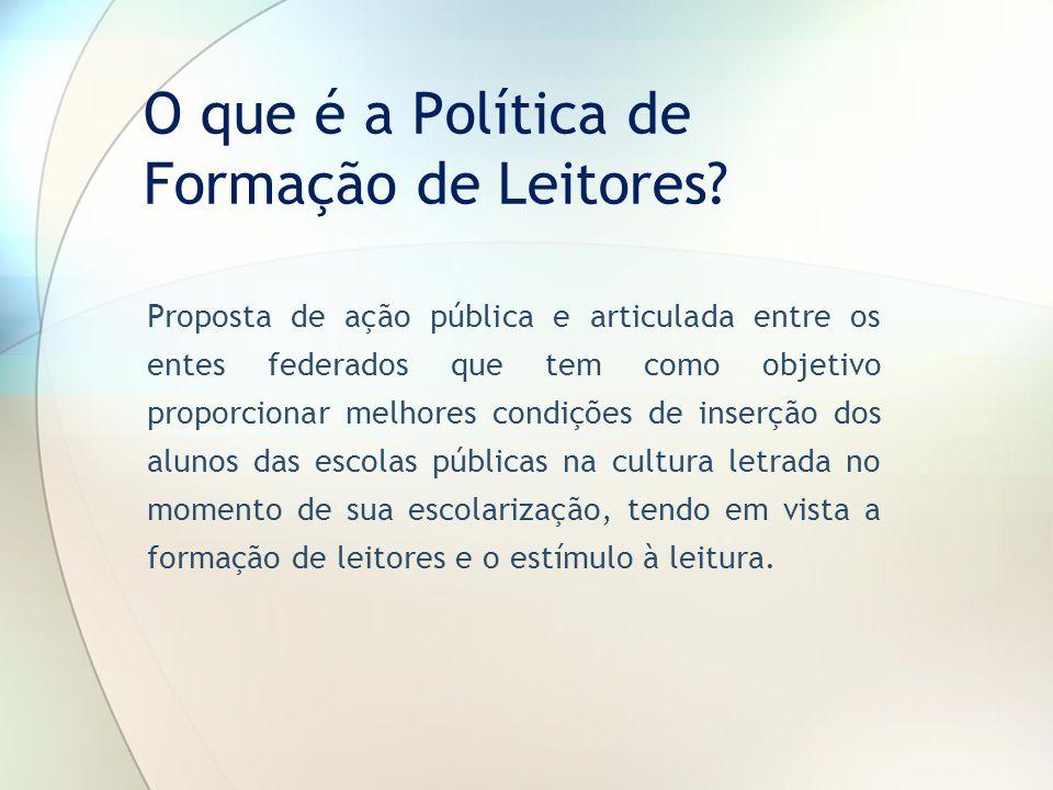 O que é a Política de Formação de Leitores
