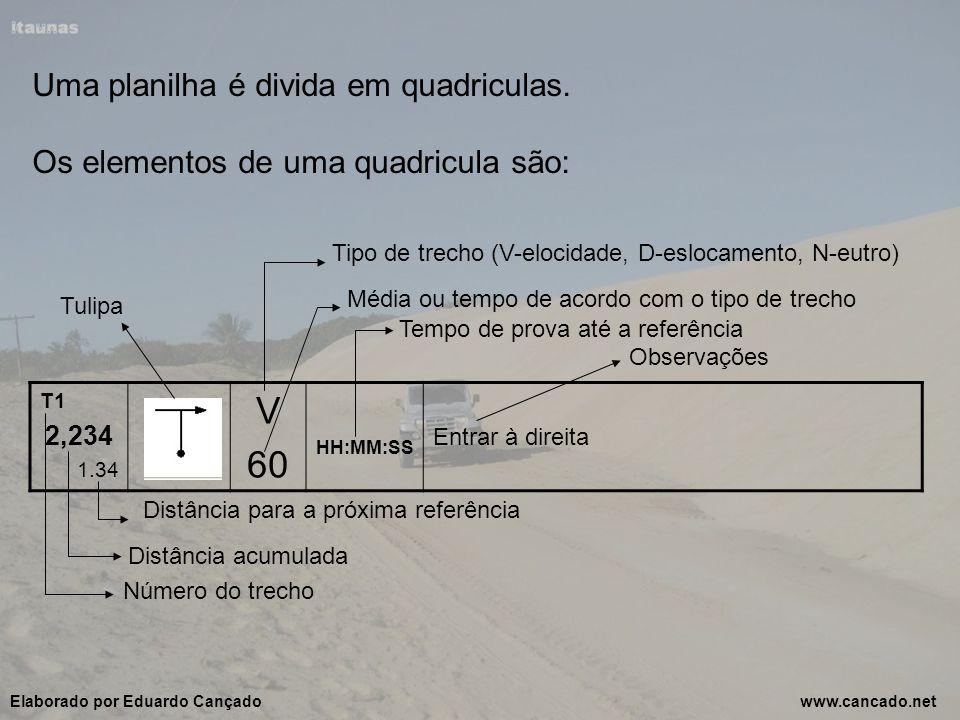 V 60 Uma planilha é divida em quadriculas.