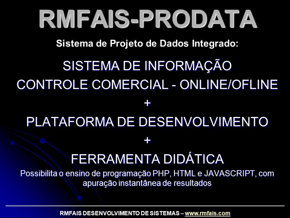 RMFAIS-PRODATA SISTEMA DE INFORMAÇÃO