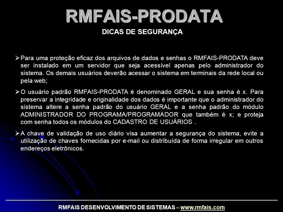 RMFAIS DESENVOLVIMENTO DE SISTEMAS – www.rmfais.com