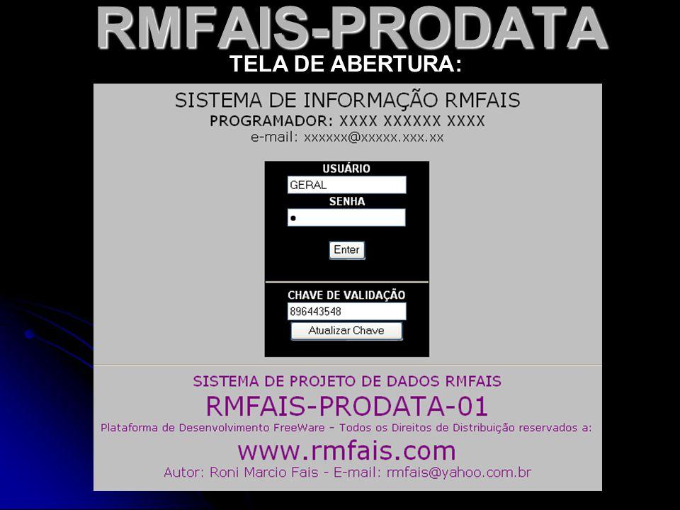 RMFAIS-PRODATA TELA DE ABERTURA: