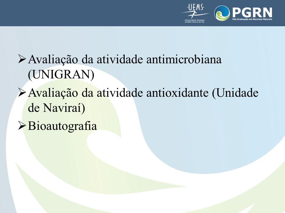 Avaliação da atividade antimicrobiana (UNIGRAN)