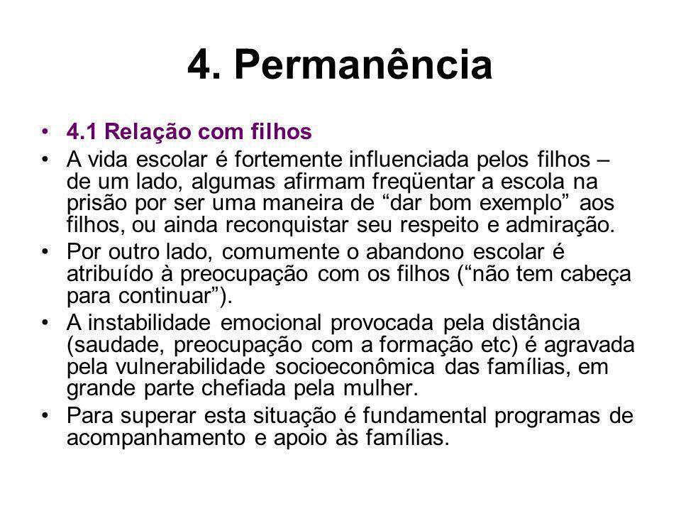 4. Permanência 4.1 Relação com filhos