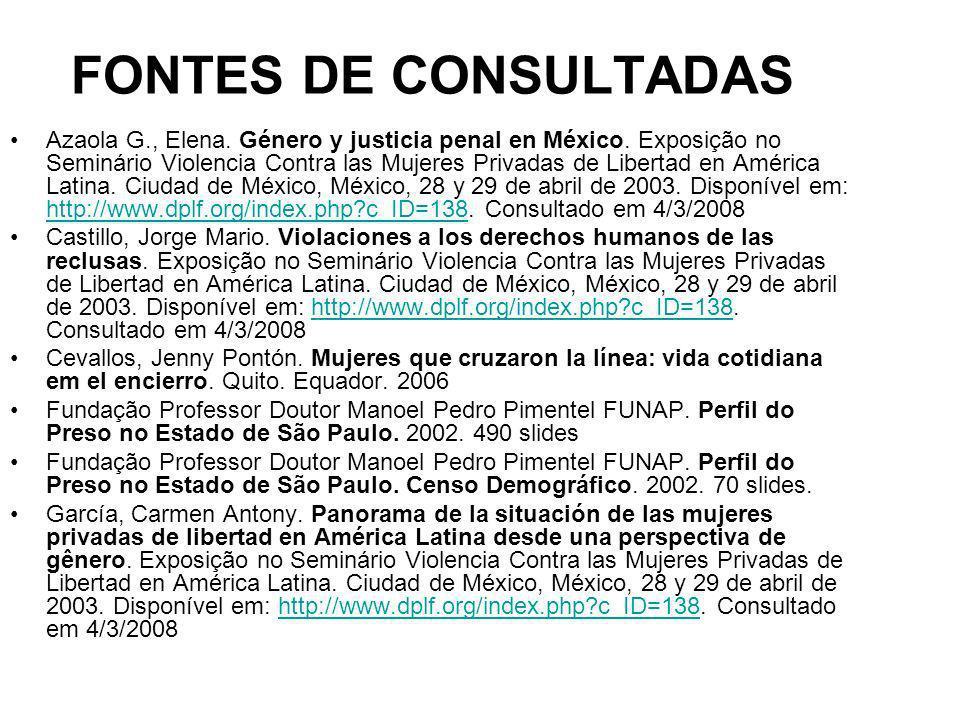 FONTES DE CONSULTADAS