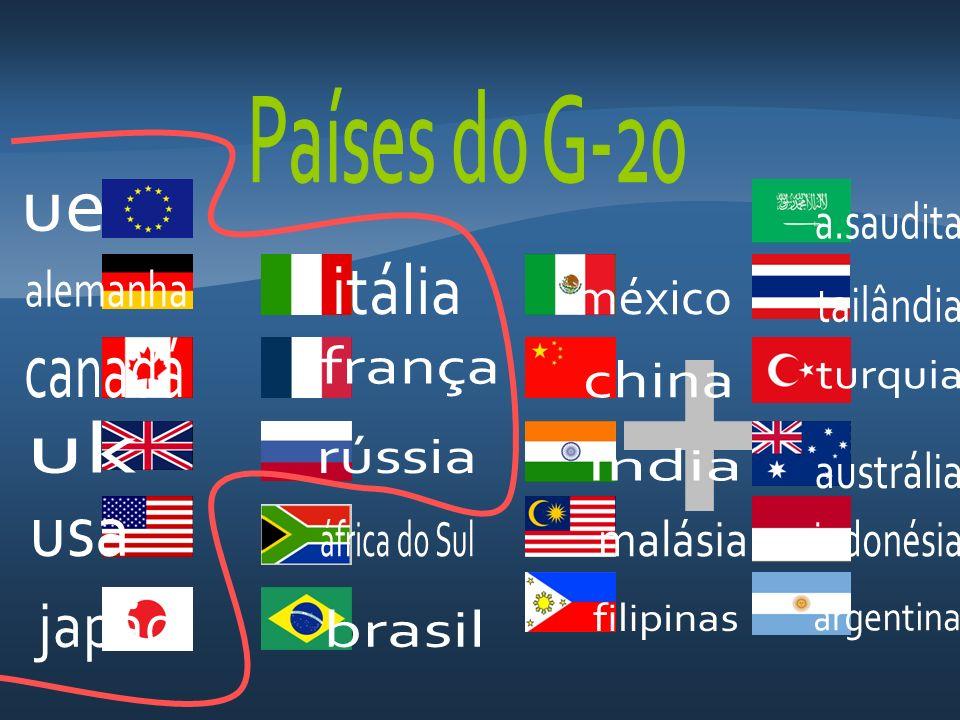 Países do G-20 ue. a.saudita. itália. alemanha. méxico. tailândia. canadá. frança. china. turquia.