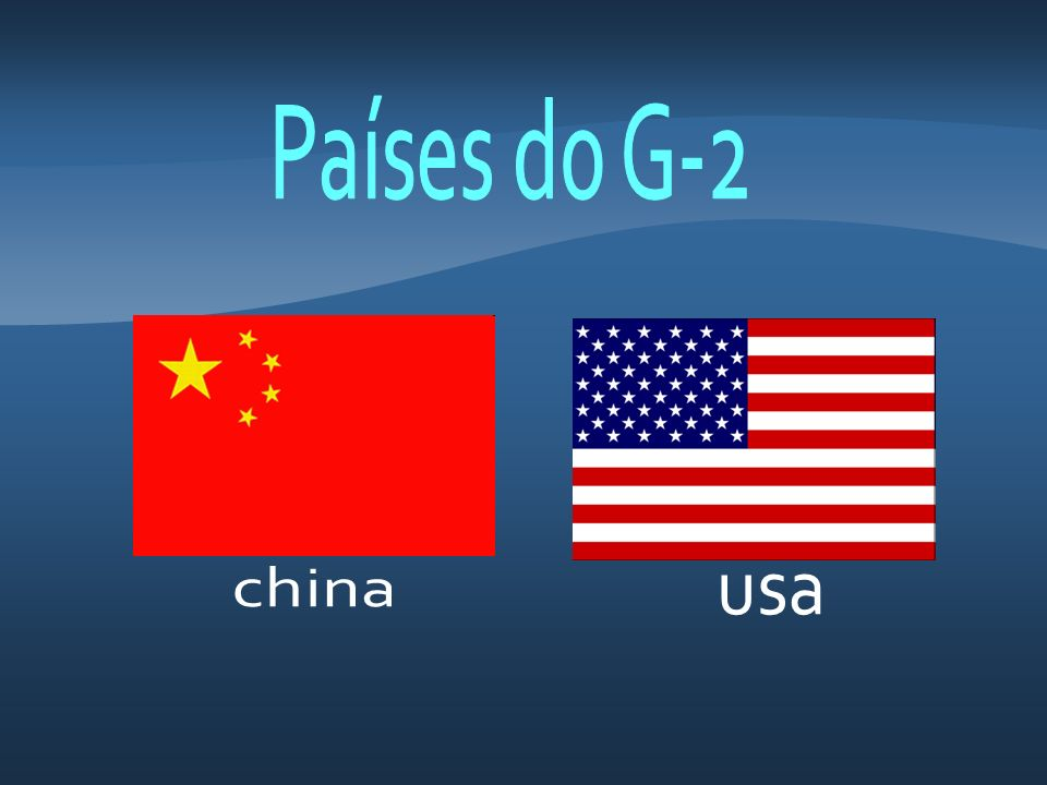 Países do G-2 china usa