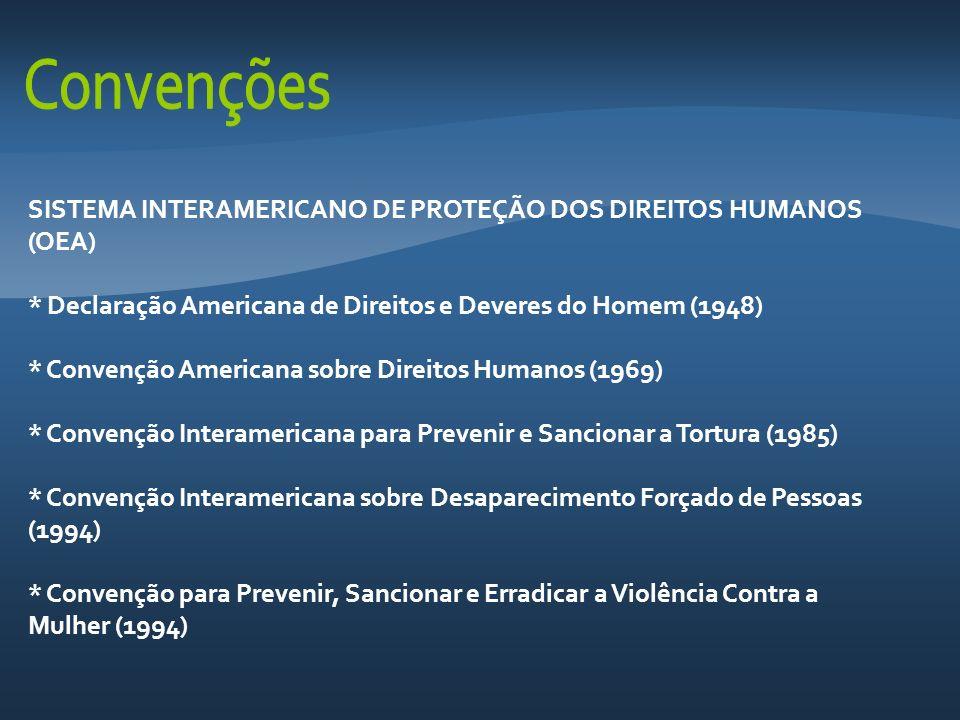 SISTEMA INTERAMERICANO DE PROTEÇÃO DOS DIREITOS HUMANOS (OEA)