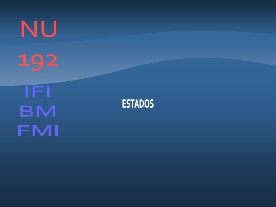 NU 192 IFI BM FMI ESTADOS