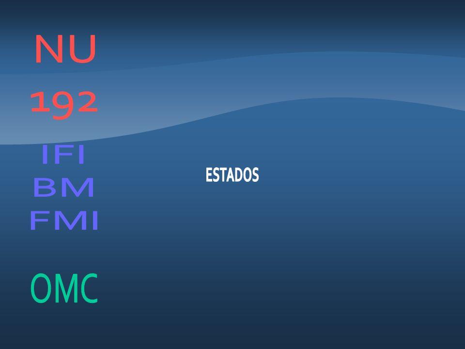 NU 192 IFI BM FMI ESTADOS OMC