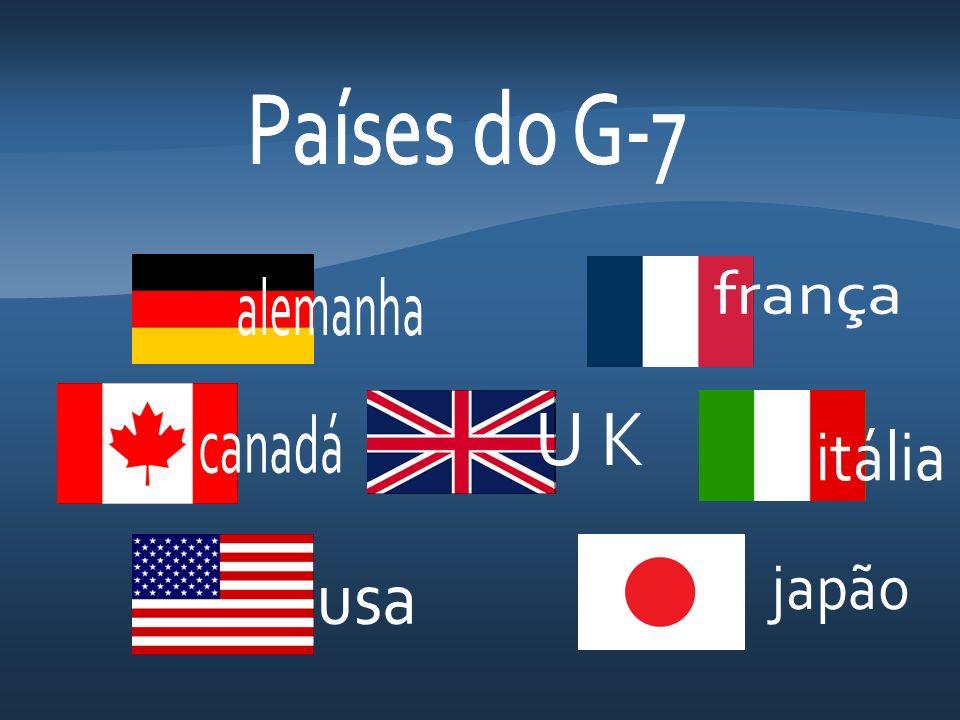 Países do G-7 frança alemanha canadá U K itália japão usa
