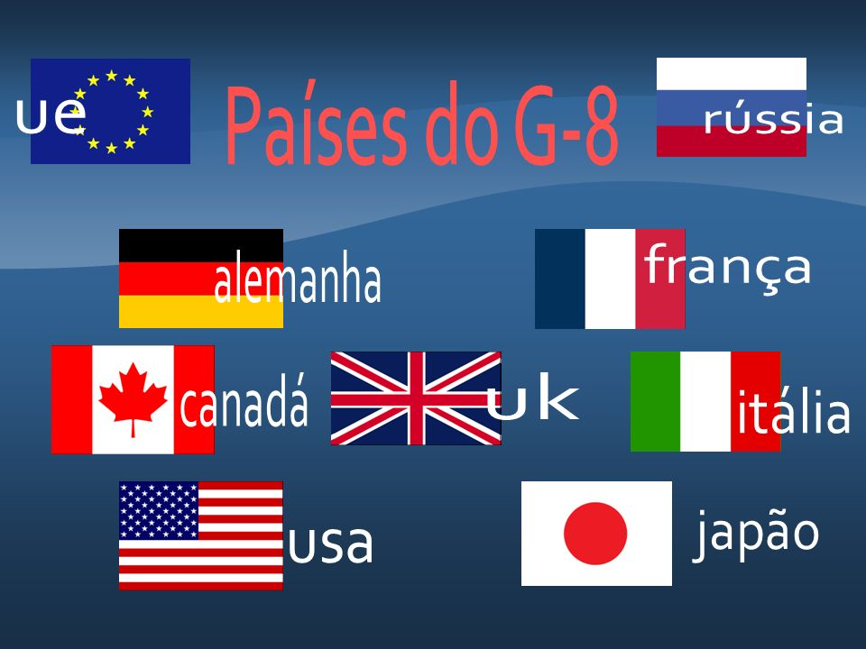 Países do G-8 ue rússia frança alemanha canadá uk itália japão usa