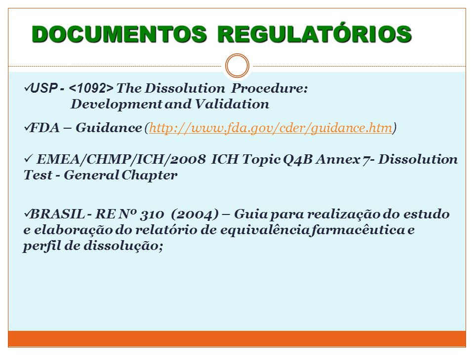DOCUMENTOS REGULATÓRIOS