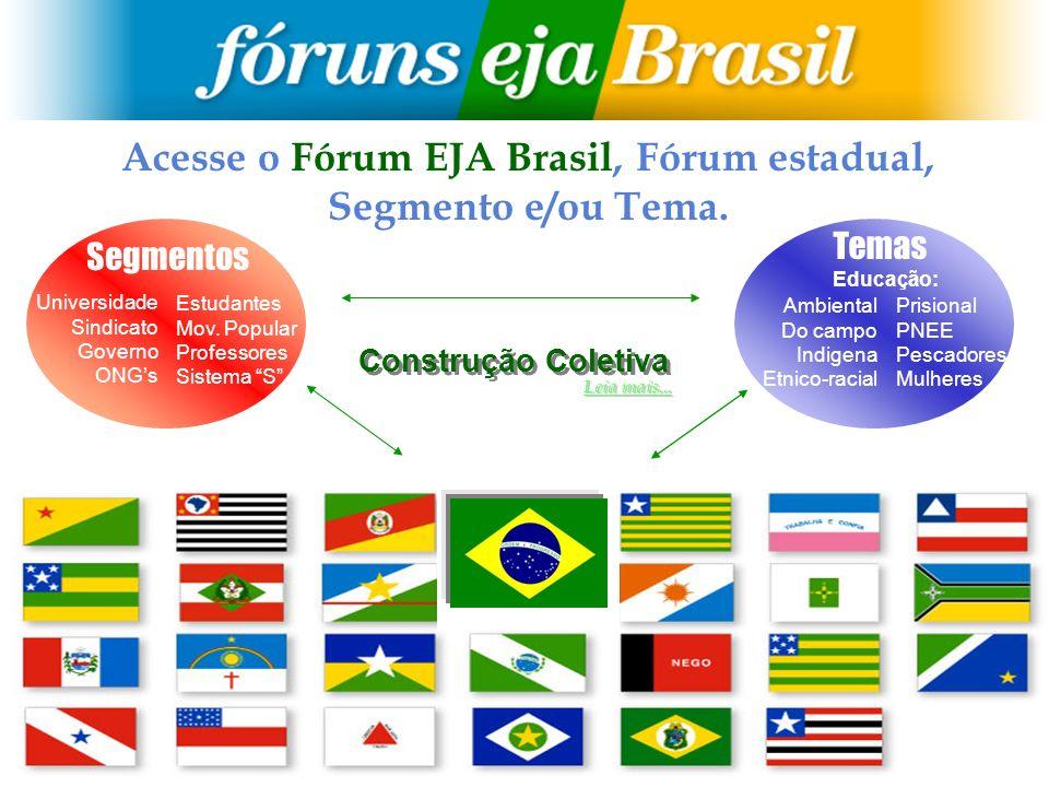 Acesse o Fórum EJA Brasil, Fórum estadual,