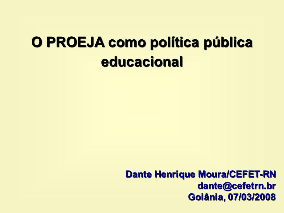 O PROEJA como política pública educacional